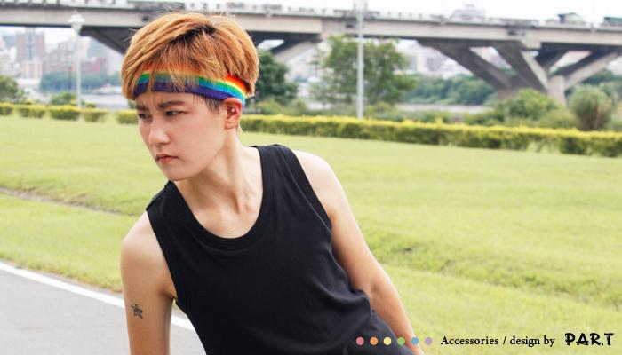 PAR.T彩虹商品/六彩商品/頭帶/運動用品/運動頭帶/吸汗頭帶