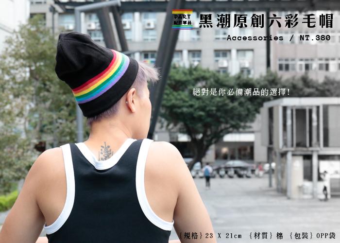 PAR.T彩虹商品/六彩商品/毛帽/六彩毛帽/棉質毛帽