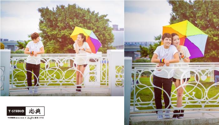 PAR.T彩虹商品/六彩商品/摺疊傘/雨傘/彩虹傘