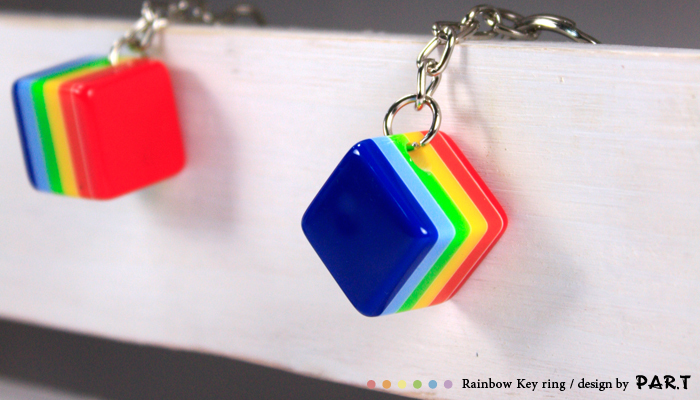 PAR.T彩虹商品/六彩商品/鑰匙圈/壓克力鑰匙圈/吊飾